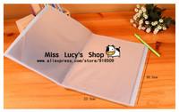 Free ship 1lot=8sepcs/Korean stationery kawaii cute Cartoon candy coolour 40 pages A4 folders folder