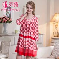 Free Shipping Sleepwear 2013 Women's Sweet Spring Autumn Three Quarter Sleeve Household Nightgown/Lady Pajamas