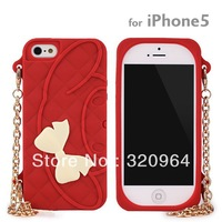 New Arrival Sanrio Silicone Jacket for iPhone 5/4S/4 Handbag Style with Pearl Bracelet Noble and Elegant Free Shipping