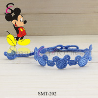 120pcs/lot Mixed Order And Colors Mickey and Minnie Pattern Italy Lace Bracelet