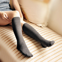 All-match thickening solid color student socks autumn and winter cold-proof over-the-knee long-barreled socks