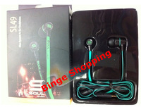 Free Shipping MINI Soul By Ludacris Soul SL49 In-Ear Earphone Headset Headphone For mp3 /phone/pc with retail package