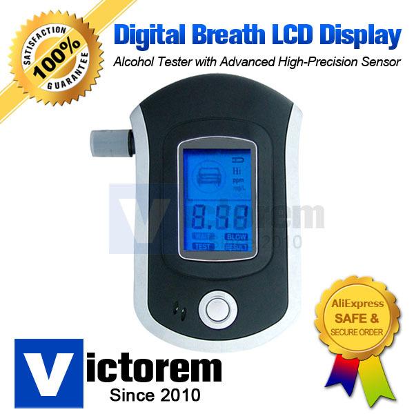 Professional Authority Precision Digital Breath Alcohol Breathalyzer Tester Advanced Alcohol Sensor Free Shipping & Dropship(China (Mainland))