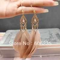 Hot Sale Elegant Three Feather Aulic Women Earring Wholesale