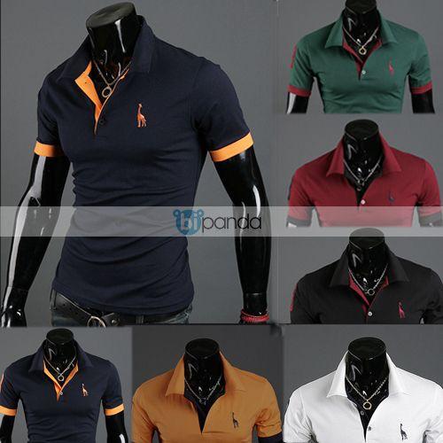 New Men's Polo T-Shirts Casual Slim Fit Stylish Short-Sleeve Shirt