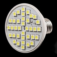 220V Ultra Bright 6W 36LEDs E27 LED SMD White Light Bulb Lamp