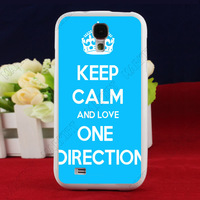 Customized Rubber Designer Case hard back cover for Samsung Galaxy S4 SIV I9500 keep calm and one direction LC1798 Free Ship