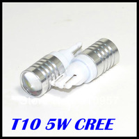 10pcs/lot T10 Cree XBD R5 High Power Car Signal Tail Turn LED Cree  Light Bulb White free shipping