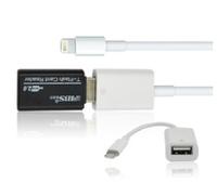 Free shipping!Batch / OTG Cable Apple ipad4/mini Apple convert U disk data cable camera card reader converter