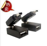 Free shipping!Batch / 360 degree rotating car stereo mini- USB male to USB female adapter miniUSB to USB Female