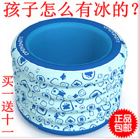 Round inflatable bb baby child baby young children swimming pool collar butterfly blue