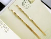 2013 Women Fshion Temptation Ultra Long Tassel Earrings Stud Earring Fashion Earring