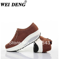 2013 autumn /winter Sponge cake shoes / leather casual shake  / thick bottom women shoes / black, white, pink, brown 4 colors