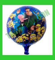 Free Shipping 18 inches minion Balloons foil,50 pcs/Lot helium balloon,cartoon design balloon,Despicable Me