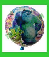 Free Shipping 18 inches Monsters University Balloons foil,50 pcs/Lot helium balloon,cartoon design balloon
