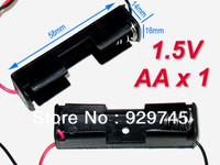 10pcs Battery Holder Box Case w/Wire 1 X AA 1.5V