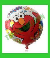 Free Shipping 18 inches Sesame Street Balloons foil,50 pcs/Lot helium balloon,cartoon design balloon