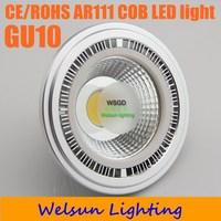 2pcs/pack AC85-260V 7W/10W/12W/15W Dimmable LED Bulb COB LED Spot Light Ar111 GU10 led lamp