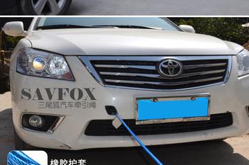 Car towing rope plastic coated steel wire trailer rope pull rope steel hook 5t 4m car emergency rope trailer belt