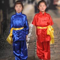 Child short-sleeve martial arts clothing performance wear adult tai chi martial arts clothing adult leotard