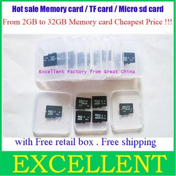 25pcs/lot China post Free shipping  2GB 4GB 8GB Micro SD TF Flash Memory Card Mobile SD HC  card