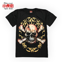Male hip-hop t-shirt hiphop short-sleeve t shirt plus size casual loose short-sleeve basic shirt