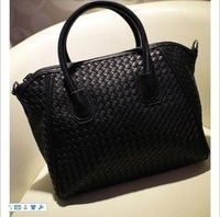 2013 autumn and winter female knitted vintage bucket bag one shoulder handbag messenger  female bags