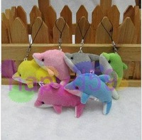 390pcs/lot Fashion cute dolphin plush lover cell phone chain mobile phone pendant strap bag decoration  wedding gift supplies