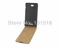 10PCS/LOT&Free shipping New Flip leather  cover case for Sony Xperia C S39h  ,Imitation of Korea
