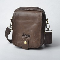 Genuine cowhide leather bag small messenger bag small change mobile phone waist pack cigarette packaging trend bag