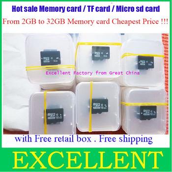 Lowest price 2GB 4GB 8GB 16GB 32GB micro sd card memory card  Free shipping