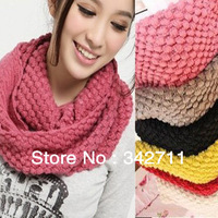free shipping 2013 Korean winter maize scarf wholesale collar scarf knitting wool scarf double ring C107