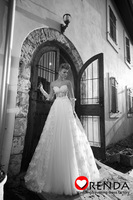 2014 New Arrival Sweetheart See Through Lace Elegant Vintage Princess Wedding Bridal Dresses Free Shipping