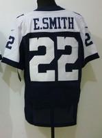 2013 New Cheap American Football Shirts.Women's # 22 E.SMITH, White/blue Drift Fashion Sport Jerseys,Free Shipping