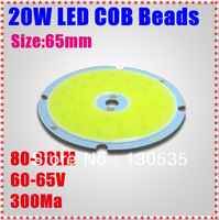 5pcs/lot 20W rectangle LED COB Beads light aluminum plate Beads 80-90LM/W 300mA LED lamp bead White/warm white free shipping