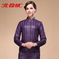 2013 new arrival winter thermal underwear quinquagenarian female glossy decorative pattern slim down coat liner