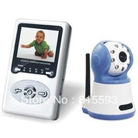 Free shipping, 2.4G wireless diginal baby monitor, 2.4 inch LCD screen, support zoom 2-way speak, wi-fi interference free