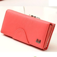 CY17  New 2014 Brief Women's wallet women PU leather wallets money clip supernova sale kawaii pink purse ladies purses classic