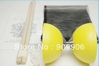 3Colors One New Chinese YO YO Fixed Axle Diabolo Set Wooden Sticks String bag