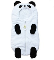 In-stock items spring and autumn newborn baby sleeping bag cartoon panda style sleepsacks Triplex hold sleeping infant kick 85cm
