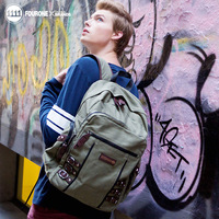 Fourone2013 large capacity travel bag male female backpack student backpack outdoor school bag male 9602