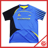 Men Badminton Tshirt 2012 Thomas-Uber Men badminton T-shirt  Lining  Jersey ATSG027