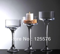 Dia15 x High30cm,Glass Cup Shape Vase For Flower Ball,High Leg Candy Pot,High-end Candle holder,Wedding Decoration,FreeShipping