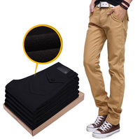 2013 Fashion sale new style winter men's casual pants plus thick velvet high quality Men's pants size 28~38