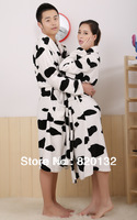 Factory Promotion ! Flannel Lovers' Robe 2013 New Design Lounge Sleepwear Pajamas Sets Winter Bathrobes Bath Gown,Free Shipping