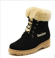 2013 snow boots female cotton boots cotton leather thermal martin boots cotton-padded shoes genuine leather high boots female