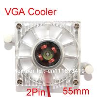 Aluminum Cooler 55mm Fan Heatsink For PC VGA Video Card Cooling