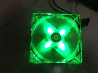 New Green color 12CM 120MM 25MM 4 Green Center LED Fan For PC Computer Case Box Cooller Cooling Fan