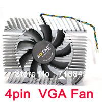 Nvidia Geforce & ATI Series VGA Video Card Aluminum Cooler 43mm Fan HeatsinK
