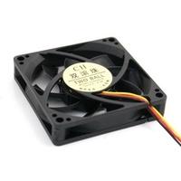 10 pcs/lot Czf two ball 80mm 8cm 8015 computer case fan black mute fan